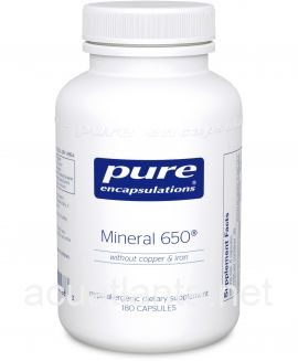 Mineral 650 Without Copper and Iron 180 vegetarian capsules