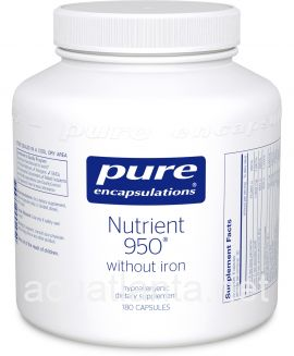Nutrient 950 without Iron 180 vegetarian capsules