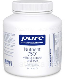 Nutrient 950 without Copper and Iron 180 vegetarian capsules