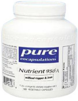 Nutrient 950A No CU and FE with A 180 soft capsules