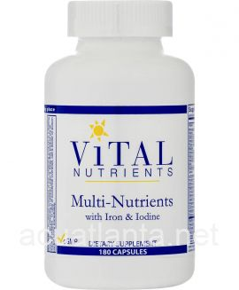 Multi-Nutrients with Iron & Iodine 180 capsules