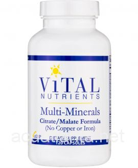 Multi-Minerals Citrate Malate (No Copper or Iron) 120 capsules