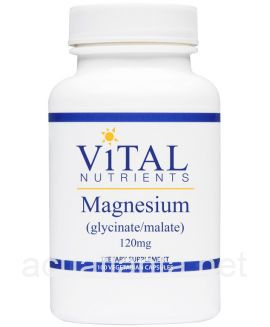 Magnesium Glycinate Malate 100 capsules 120 milligrams