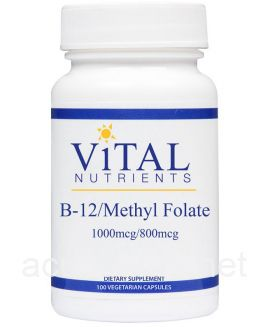 Vitamin B12 with  Methyl Folate 100 capsules