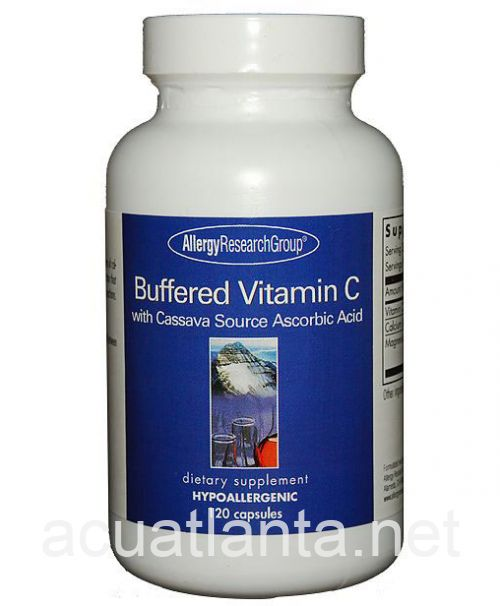 Buffered Vitamin C - Cassava Root Source 120 capsules