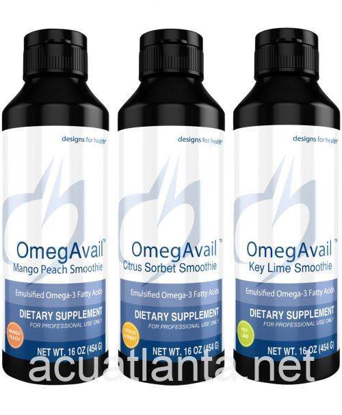 OmegAvail Smoothie Sample Pack 3 bottles
