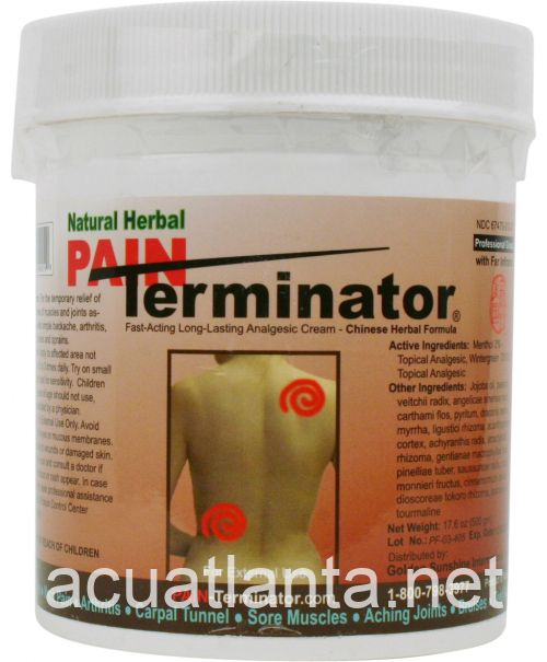 Pain Terminator Far Infrared Analgesic Cream, 500 gm 500 grams