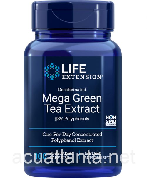 Mega Green Tea Extract (decaffeinated) 100 vegetarian capsules