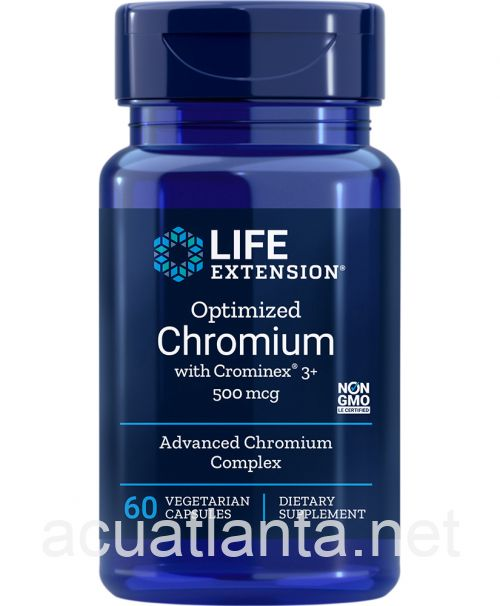 Optimized Chromium with Crominex 3+ 60 veggie capsules 500 micrograms