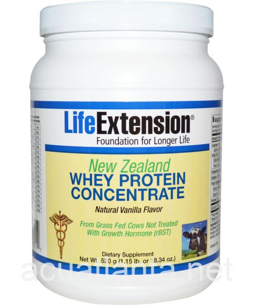 New Zealand Whey Protein Concentrate 520 grams Natural Vanilla Flavor