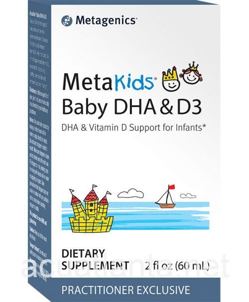 MetaKids Baby DHA and D3 2 ounce