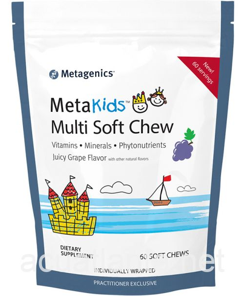 MetaKids Multi Soft Chew 60 chewable tablets Juicy Grape