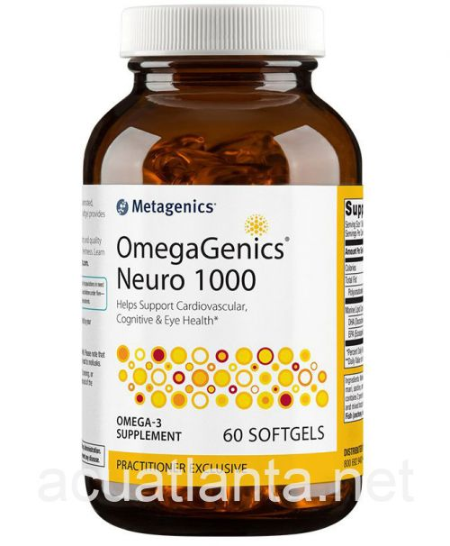 OmegaGenics Neuro 1000 60 soft gels