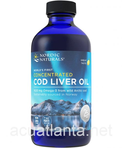 Concentrated Arctic Cod Liver Oil 8 ounce Lemon