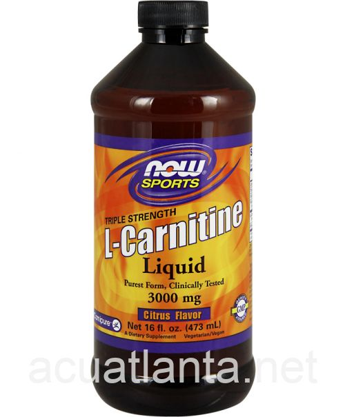 L-Carnitine Liquid 16 ounce 3000 milligrams Citrus Flavor
