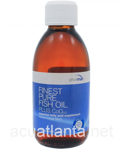 Finest Pure Fish Oil Plus CoQ10 200 milliliters Natural Orange