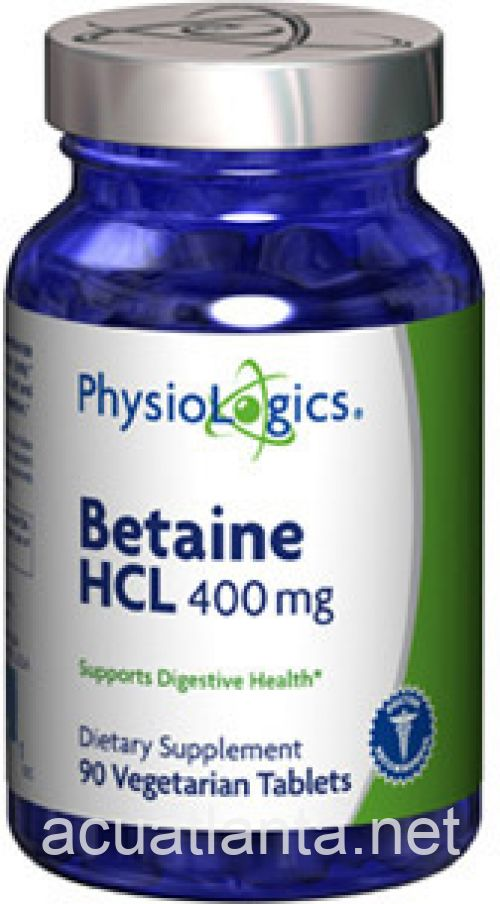 Betaine HCL 90 count 400 milligrams