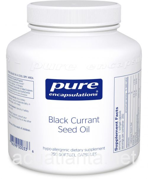 Black Currant Seed Oil 250 veggie capsules 500 milligrams