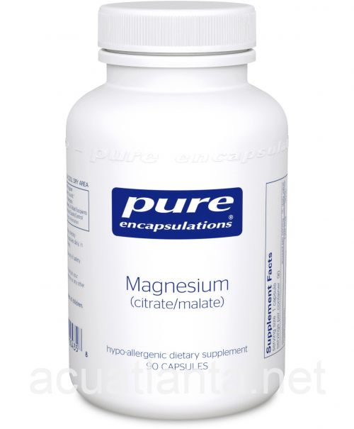 Magnesium (Citrate/Malate) 90 vegetable capsules