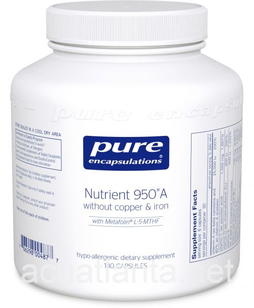Nutrient 950A without Copper and Iron 180 vegetarian capsules