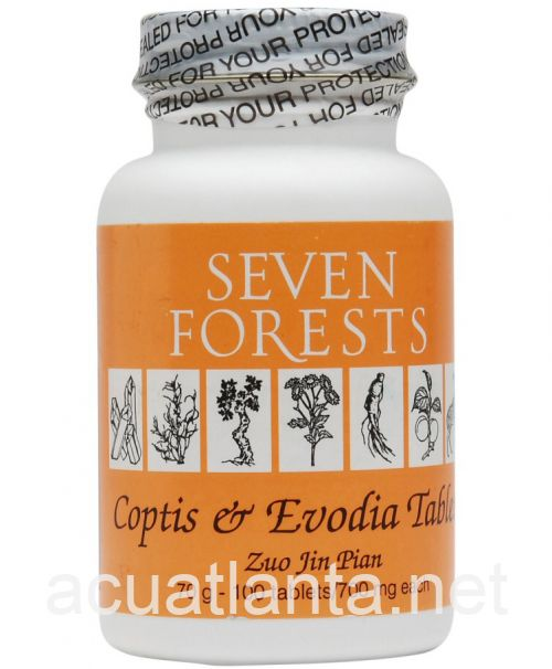 Coptis and Evodia 100 tablets