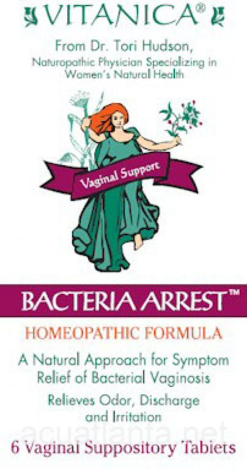Bacteria Arrest Suppository 6 count