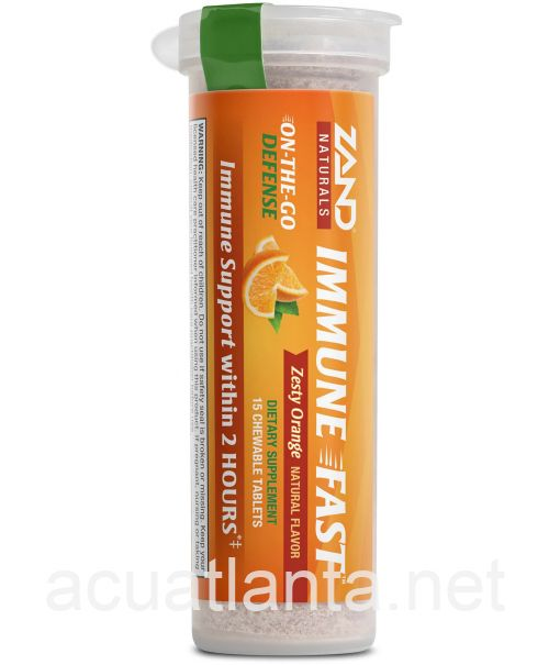 Immune Fast Chews 15 chewable tablets Zesty Orange