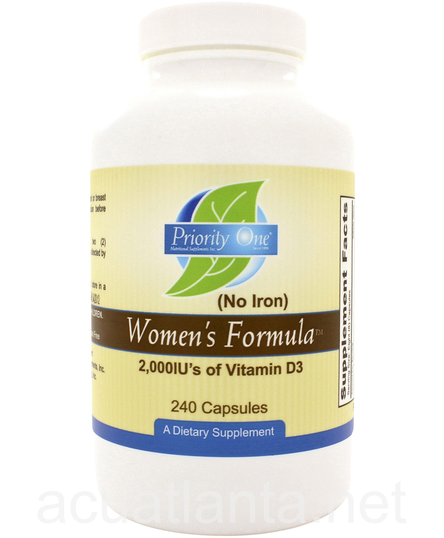 woman s formula without iron by priority one vitamins on