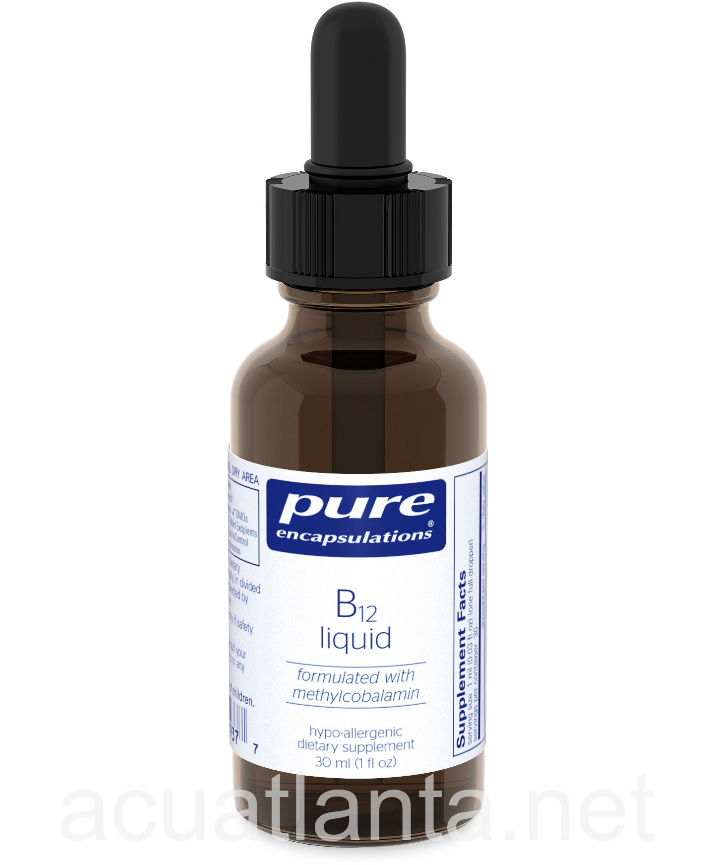 b12 liquid 30 milliliters 1000 micrograms by pure encapsulations on sale in stock fast shipping. Black Bedroom Furniture Sets. Home Design Ideas