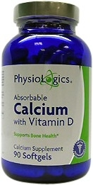 Absorbable Calcium with Vitamin D 90 gelcaps 1000 milligrams