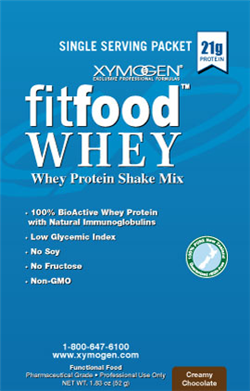 Fit Food Whey 1 serving packet Creamy Chocolate